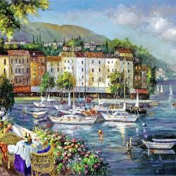 Пазл онлайн: Кораблики на отдыхе
