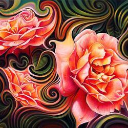 Пазл онлайн: Танц роз