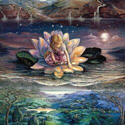 Пазл онлайн: Девочка в цветке