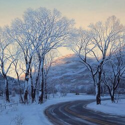 Пазл онлайн: Морозное утро