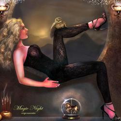 Пазл онлайн: Магическая ночь