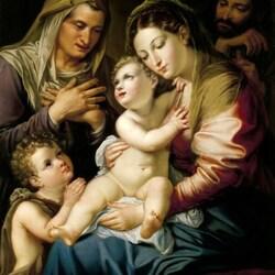 Пазл онлайн: Святое семейство