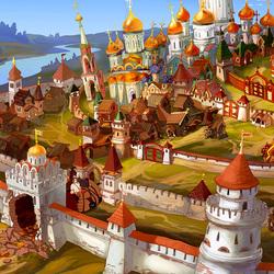 Пазл онлайн: Городок на берегу