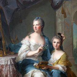 Пазл онлайн: Мадам Марсолльер и её дочь
