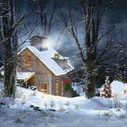 Пазл онлайн: Санта в доме