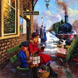 Пазл онлайн: Ожидание поезда