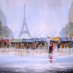 Пазл онлайн: Апрель в Париже