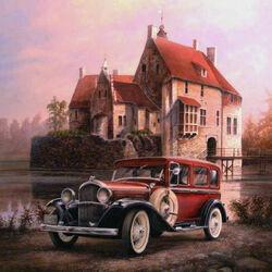 Пазл онлайн: Plymouth 1931 и замок Вишеринг
