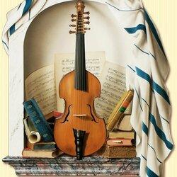 Пазл онлайн: Со скрипкой