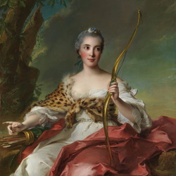 Пазл онлайн: Мадам де Мезон Руж в образе Дианы охотницы