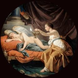 Пазл онлайн: Психея будит спящего Амура