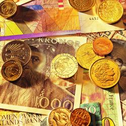 Пазл онлайн: Купюры и монеты