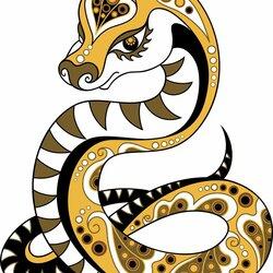 Пазл онлайн: Сказочная змейка