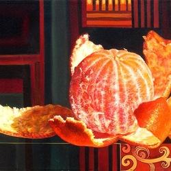 Пазл онлайн: Натюрморт с апельсином