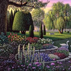 Пазл онлайн: Сад