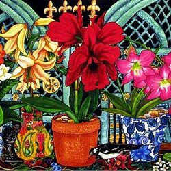 Пазл онлайн: Яркое цветение