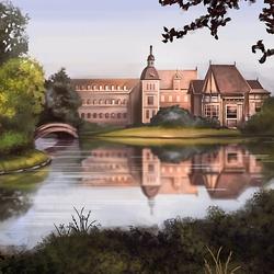 Пазл онлайн: Замок у озера