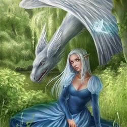 Пазл онлайн: Алиель и дракон
