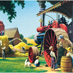 Пазл онлайн: Заготовка зерна