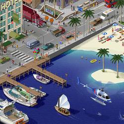 Пазл онлайн: Городок у моря