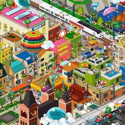 Пазл онлайн: Большой город