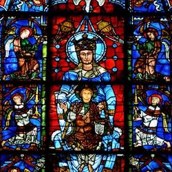 Пазл онлайн: Витражи Шартрского собора (XII в.), Богородица