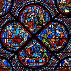Пазл онлайн: Витражи Шартрского собора