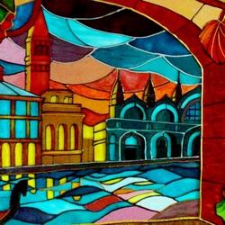 Пазл онлайн: Витраж на стекле