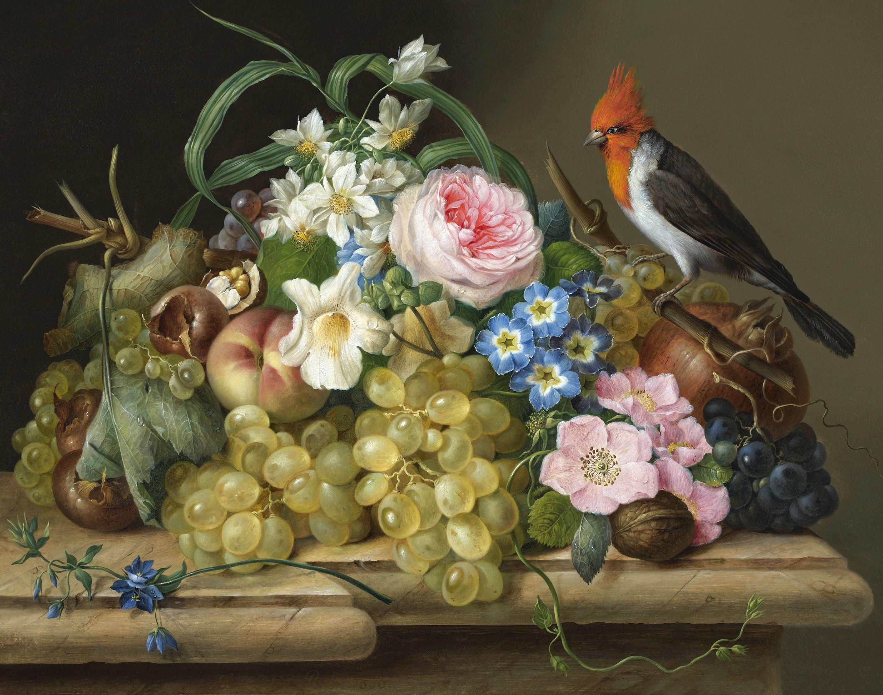 цветочный и фруктовый натюрморт доставки элитных