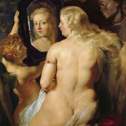 Пазл онлайн: Венера с зеркалом