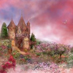 Пазл онлайн: Замок роз