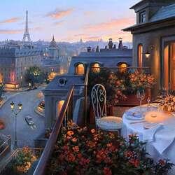 Пазл онлайн: Парижский вечер