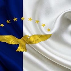 Пазл онлайн: Флаг Азорских островов