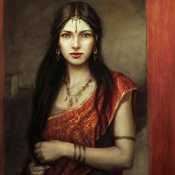 Пазл онлайн: Индийская девушка