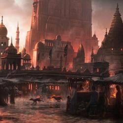 Пазл онлайн: Восточный город