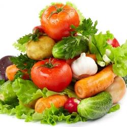 Пазл онлайн: Овощная пирамида