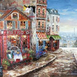 Пазл онлайн: Парижская улочка