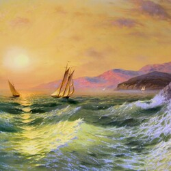Пазл онлайн: На море
