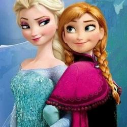 Пазл онлайн: Холодное сердце. Эльза и Анна