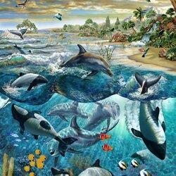 Пазл онлайн: Дельфиний остров