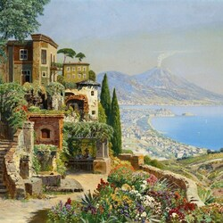 Пазл онлайн: Вид на Неаполь