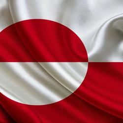 Пазл онлайн: Флаг Гренландии