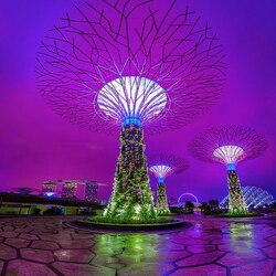 Пазл онлайн: Сады Сингапура