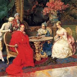 Пазл онлайн: Партия в шахматы