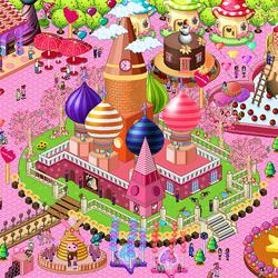 Пазл онлайн: Сахарный городок