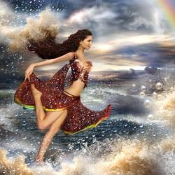 Пазл онлайн: Бегущая по волнам
