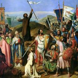 Пазл онлайн: Шествие крестоносцев вокруг Иерусалима 14 июля 1099 года
