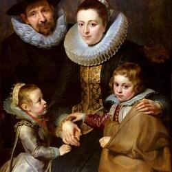 Пазл онлайн: Портрет семьи Яна Брейгеля Старшего