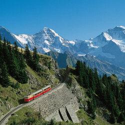 Пазл онлайн: Швейцарский пейзаж