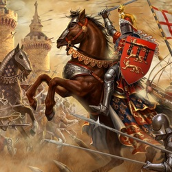 Пазл онлайн: Рыцари